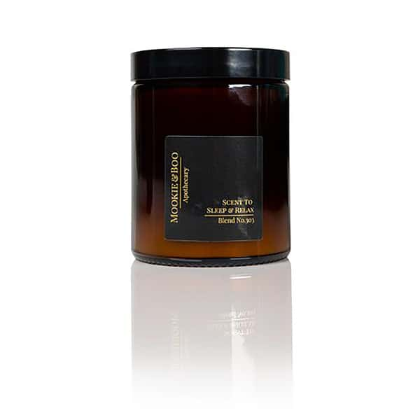 sleep and relax candle